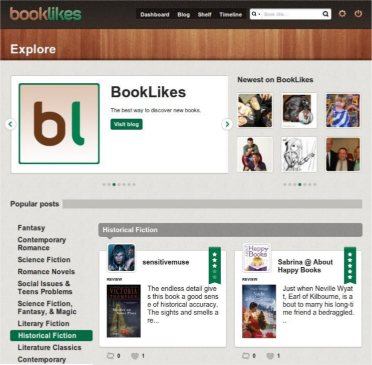 BookLikes Explore